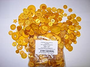 KosiKrafts 1 Bag Of 100g Art & Craft YELLOW Sewing BUTTONS. Various Sizes by !!!! Click Here To View Our Full Range Of Art And Craft Products !!!!