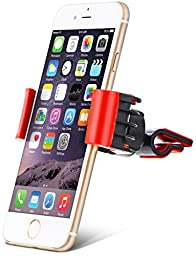 Aduro® U-GRIP SWIVEL Universal Smartphone Air Vent Car Mount Holder with 360° Rotating swivel head compatible Apple iPhone, Samsung Galaxy, HTC and all Devices up to 6\