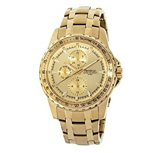 Armitron Men's 204696CHGP Gold-Tone Stainless-Steel Multi-Function Dress Bracelet Watch