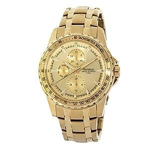Armitron Men's 204696CHGP Gold-Tone Stainless-Steel Multi-Function Dress Bracelet Watch