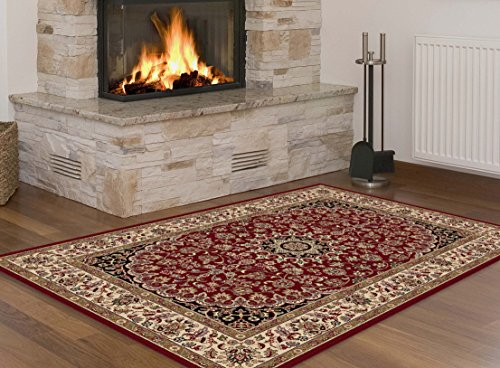 Universal Rugs Transitional Oriental 3 Piece Area Rug Set , Red