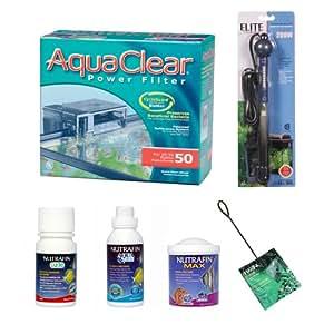 Aquaclear complete aquarium kit up to 50 for 50 gallon fish tank starter kit