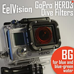 EelVision Red Filter (BG) for GoPro HERO4 HERO3/3+ - Dive Filter / Scuba Diving Underwater Color Correction