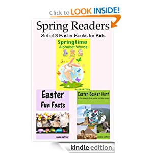 Spring Readers: Set of 3 Easter Books for Kids