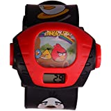 S S TRADERS - Angry Bird Single Kids Projector Watch For Girls/Boys,Good Gift