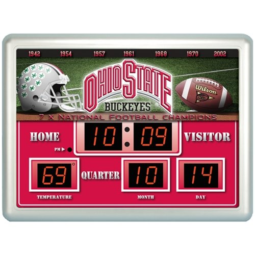 Ohio State Buckeyes NCAA 14x19 Scoreboard Clock Thermometer at Amazon.com