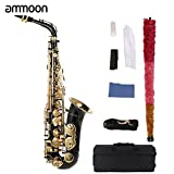 ammoon bE Alto Saxphone Brass Lacquered Gold E Flat Sax (Sax) (Color: Sax)