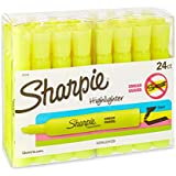 Sharpie Accent Tank Style Highlighters, Fluorescent Yellow, 24 Highlighters (20142)