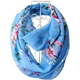Tapp C. Multicolor Floral Print Infinity Scarf - Blue
