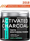 Activated Charcoal Teeth Whitening Powder - Product of UK by Sunatoria – Natural Coconut Teeth Whitener – Effective Remover Tooth Stains for a Natural Healthier Whiter Smile – Improved 2018 Formula