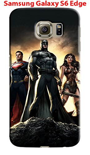 Batman V Superman for Samsung Galaxy S6 Edge Hard Case Cover (bat) at Gotham City Store