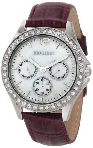 CEPHEUS CP502-488 - Reloj de mujer de cuarzo, correa de piel color morado