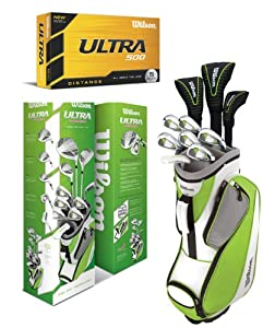 WILSON ULTRA Ladies Ladies Right Handed Complete Golf Club Set w Bag + 12 Balls by Wilson