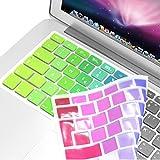 Incutex QWERTZ Silikon Tastaturschutz Tastenschutz Kratzschutz für MacBook (deutsche Tastenfolge) Bunt