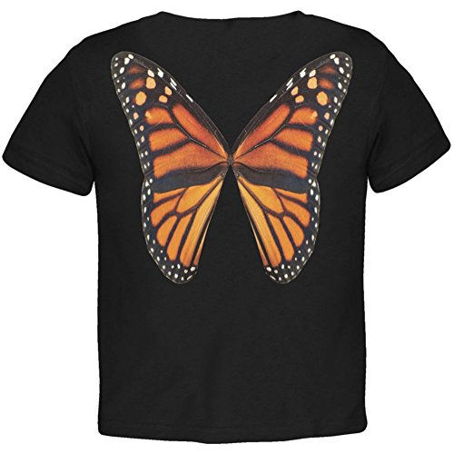 Monarch Butterfly Wings Costume Black Toddler T-Shirt