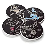 Hallmark DYG9119 Mickey Mouse Through Thw Years Coasters