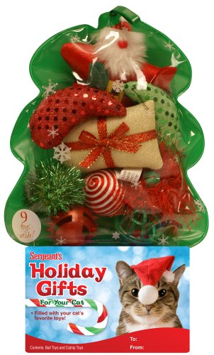 Holiday Cat Toy Filled Christmas Tree
