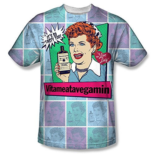 I Love Lucy Vita Comic All Over Front T-Shirt LB262