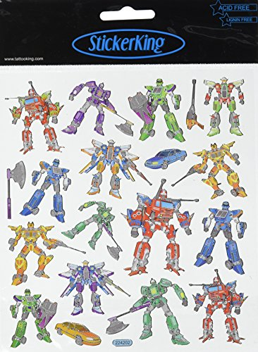 Multi-Colored Stickers-Faux Transformers