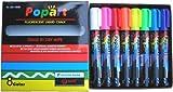 Liquid Chalk Fluorescent Neon Markers , 8 Colors