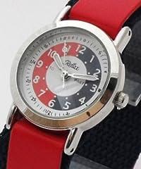 Kids/Boys/Girls Red Blue Time Tutor/Teacher Velcro Learning Watch-Reflex 33