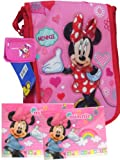 Adorable Minnie Mouse Red Strim Lunch Box and Wallet + Foldres