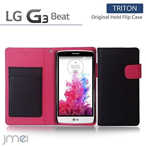 LG G3 Beat ケース LG-D722J JMEIオリジナルホールドフリップケース LG-D722J TRITON ブラック UQ mobile ユーキュー モバイル simフリー スマホ カバー スマホケース LG-D722J スマートフォン