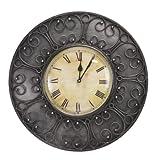 Decoritte Iron And Glass Antique Theme Wall Clocks (15.5 Cm X 15.5 Cm X 2 Cm, 83675)