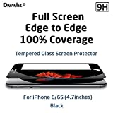 iPhone 6/6s Screen Protector, Daswise 2015 Full Screen Anti-scratch Tempered Glass Protectors with Curved Edge, Cover Edge-to-Edge, Screens from Drops & Impacts, HD Clear, Bubble-free, Shockproof