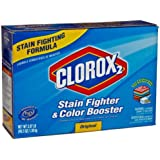 Clorox 2 03098 Stain Fighter and Color Booster Powder, 49.2 oz. (Case of 4)WasUltra Clorox 2 03098 49.2-Ounce Regular Dry Bleach (Case of 4)