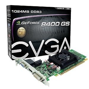 EVGA GeForce 8400 GS 1 GB DDR3 PCI-E 2.0 16X DVI/HDMI/VGA Graphics Card, 01G-P3-1302-LR