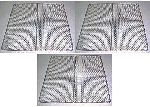 3 Excalibur Dehydrator Stainless Steel Trays Replacement UPGRADE Food Shelf Mesh (Excalibur Steel compare prices)