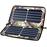 ECEEN Solar Panel Charger -Portable, Foldable, 10 Watts and 22% High Efficiency with USB Port for iPhone, Samsung, HTC, GPS & Gopro Camera, Power Bank Etc. 5v Device (Camouflage)