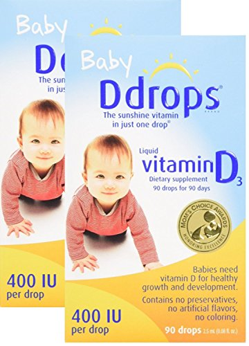 Ddrops Baby 400 IU, 90 Drops, 2 Count