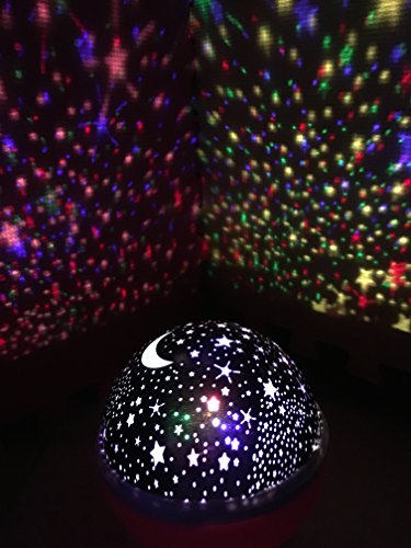 Star and Moon Starlight Projector Night Light Bedside Lamp  ZHOPPY USB    Battery Powered Romantic Rotating Cosmos Star. and Moon Starlight Projector Night Light Bedside Lamp  ZHOPPY USB