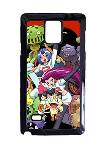 Engood Design Pokemon Team Rocket Jessie,James Meowth Case Durable Unique Design Hard Back Case Cover For Samsung Galaxy Note 4 (Jessie From Team Rocket)
