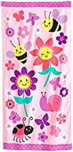 Bugs and Flowers Beach Towel