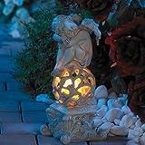 Lunartec Gartendekoration Träumender Engel mit Solar-LED-Beleuchtung