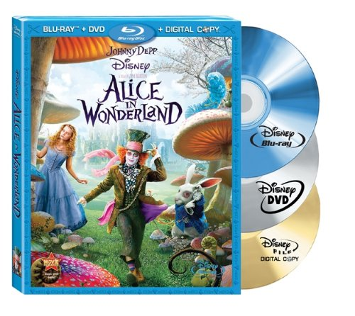 Cover art for  Alice in Wonderland (Three-Disc Blu-ray/DVD Combo + Digital Copy)