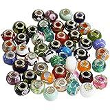 50er Set Glasperlen im Murano-Stil Anhänger für Schmuckarbeiten Armbänder Halsketten von Kurtzy TM