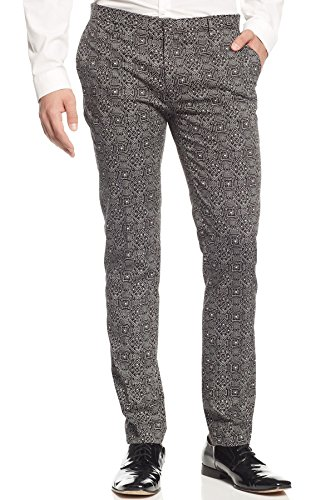 Edge By WD.NY Slim Fit Tribal Dress Pants Black and White 30 x 32 (Wd Edge compare prices)