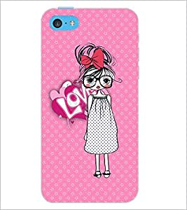 PrintDhaba Specy Girl D-3986 Back Case Cover for APPLE IPHONE 5C (Multi-Coloured)