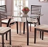 Dining Table - Contemporary Dark Espresso Finish