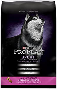 Purina Pro Plan Dry Dog Food, Sport, Performance 30/20 Salmon & Rice Formula, 33-Pound Bag, Pack of 1