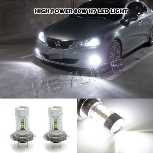 Bargain Sale!!! 2X H7 80W Super Bright White Fog Light Headlight Cree Led Bulb High Power In