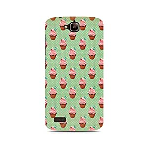 Motivatebox- Small Cupcakes Premium Printed Case For Huawei Honor Holly -Matte Polycarbonate 3D Hard case Mobile Cell Phone Protective BACK CASE COVER. Hard Shockproof Scratch-