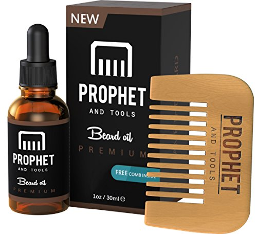 Prophet and Tools Beard Oil and Beard Comb Kit! FREE Beard Care Ebook Included - Unscented Leave-in Conditioner, Softener, and Beard Growth - 0% Alcohol, Vegan and Nuts-Free - All Organic Vitamin E (Vape Kit Wax compare prices)