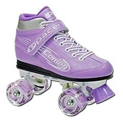 Pacer Comet Girls Light Up Skates - Kids Light Up Quad Roller Skates by Pacer