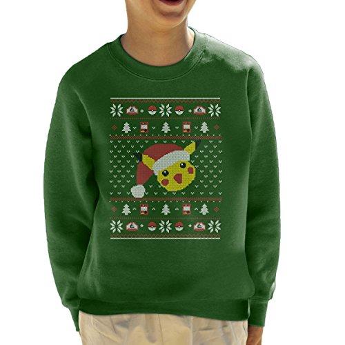 Christmas-Pikachu-Knit-Pattern-Pokemon-Kids-Sweatshirt