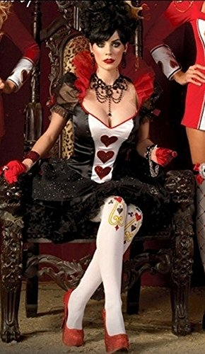 GALHAM - Halloween High Quality Sexy Royal Adult Queen of Hearts Costume